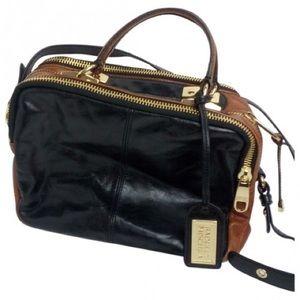 •Badgley Mischka•Leather Handbag•Black/Brown